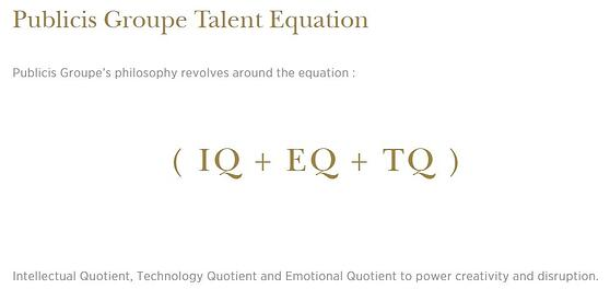Example Publici Groupe Talent Equation